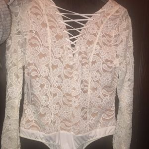 Tops - Women's Laced Body Suit size Large